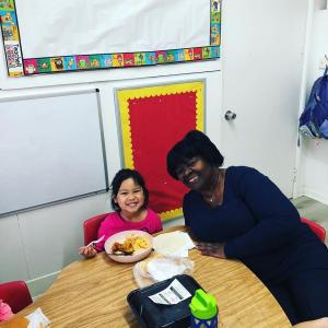 Have Lunch With Your Child event in Ms. Adrina's classroom. #glendalechildcare #kindergarten #havelunchwithyourchild (4)