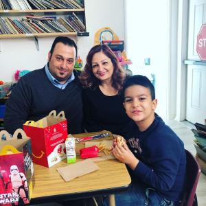 Have Lunch With Your Child event in Ms. Adrina's classroom. #glendalechildcare #kindergarten #havelunchwithyourchild (5)