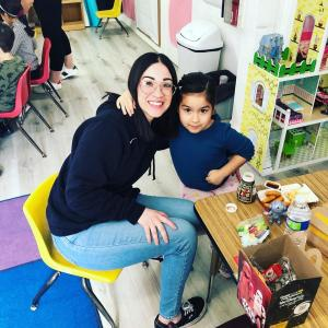 Have Lunch With Your Child event in Ms. Adrina's classroom. #glendalechildcare #kindergarten #havelunchwithyourchild